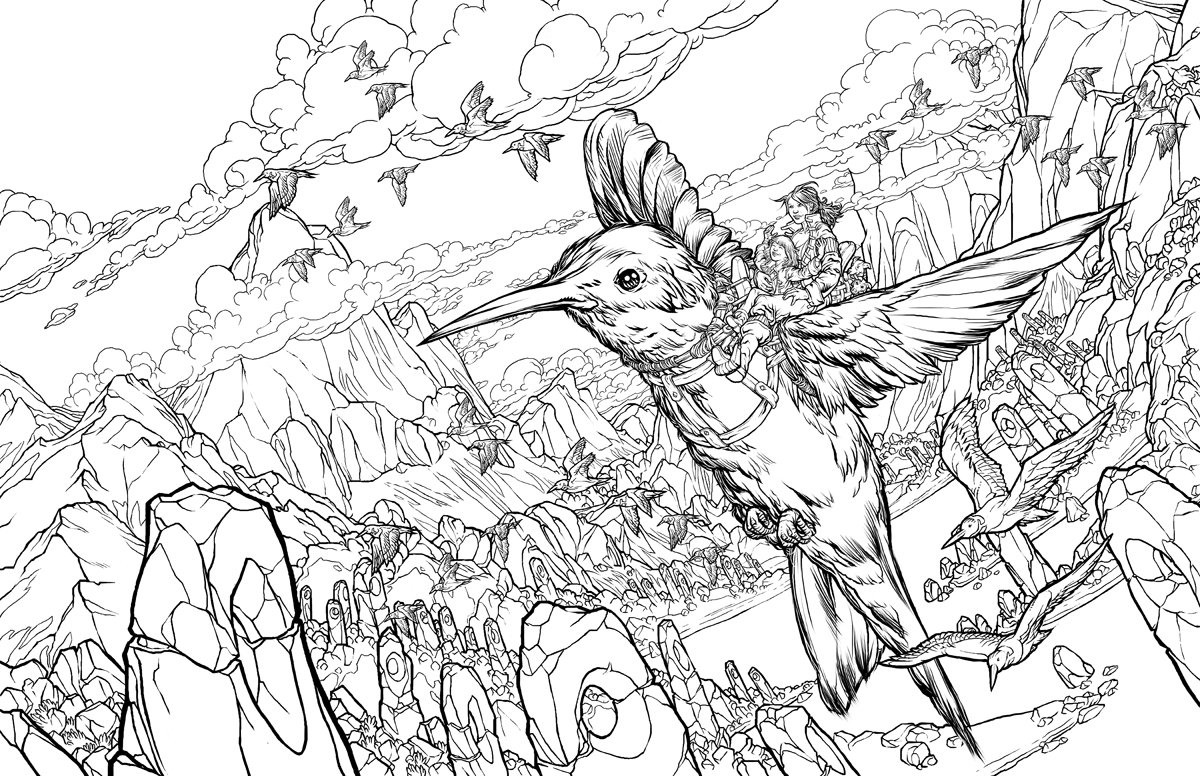 Jeremy 39 s art for Coloring pages of hummingbirds